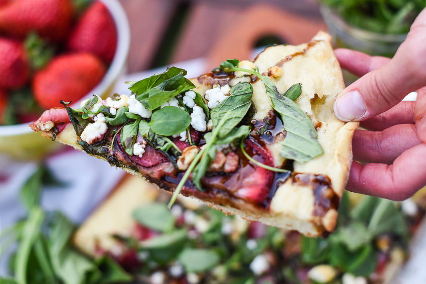 Grilled Strawberry Pizza 9
