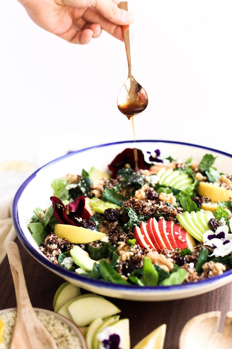 Harvest Apple Quinoa Kale Salad 19