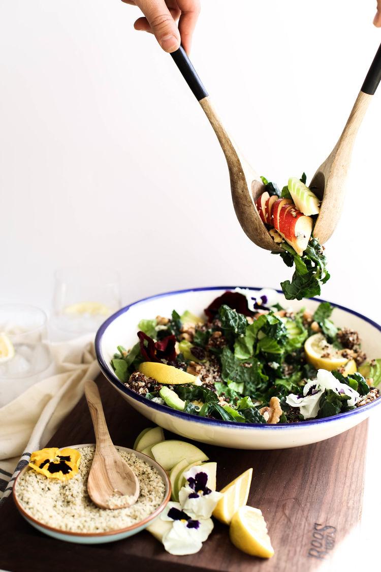 Harvest Apple Quinoa Kale Salad 23