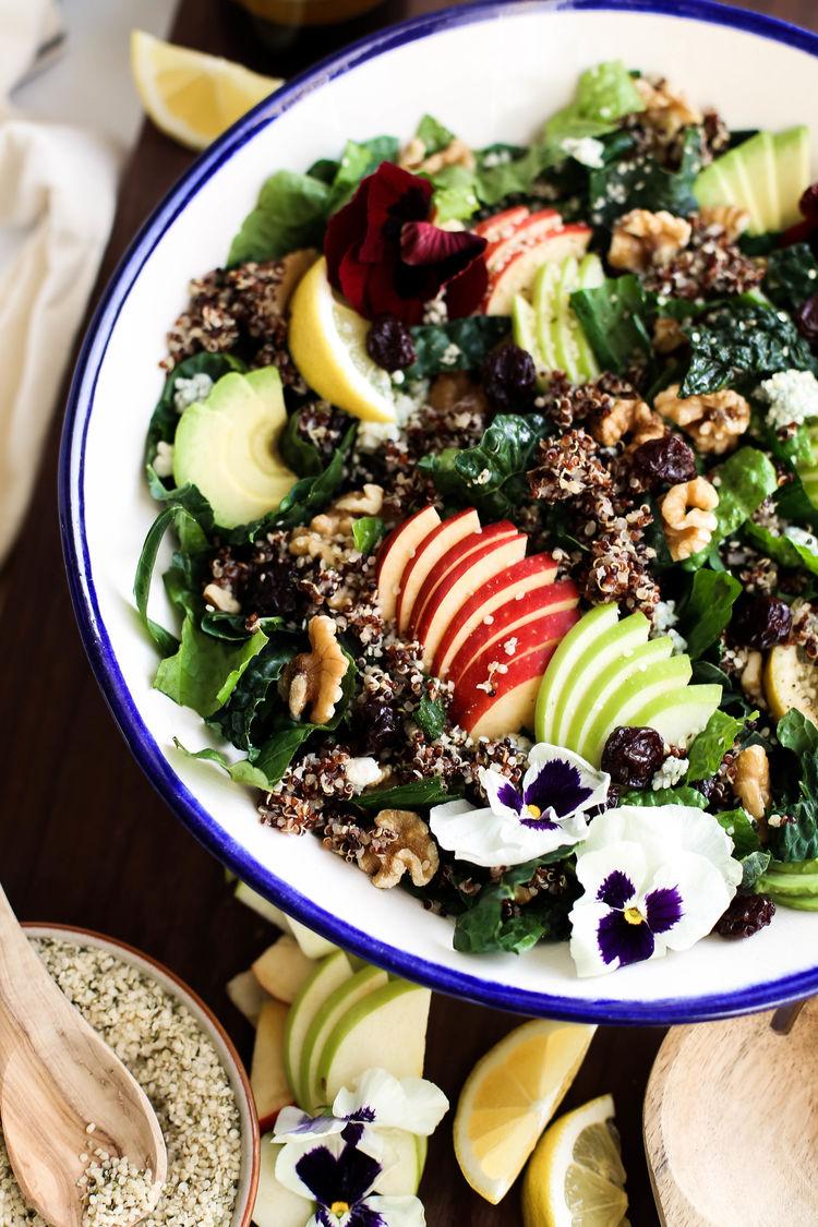 Harvest Apple Quinoa Kale Salad 9