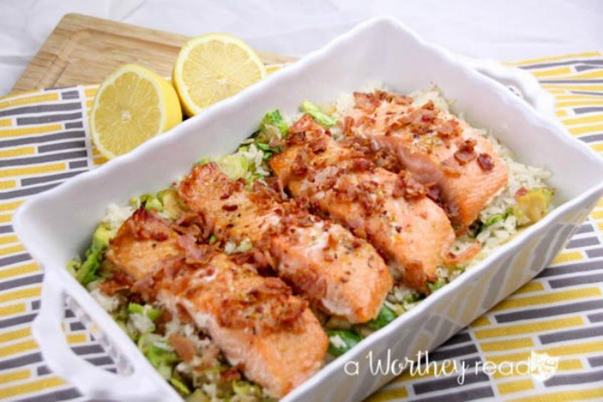 Herb Marinated Salmon Savory Rice 5