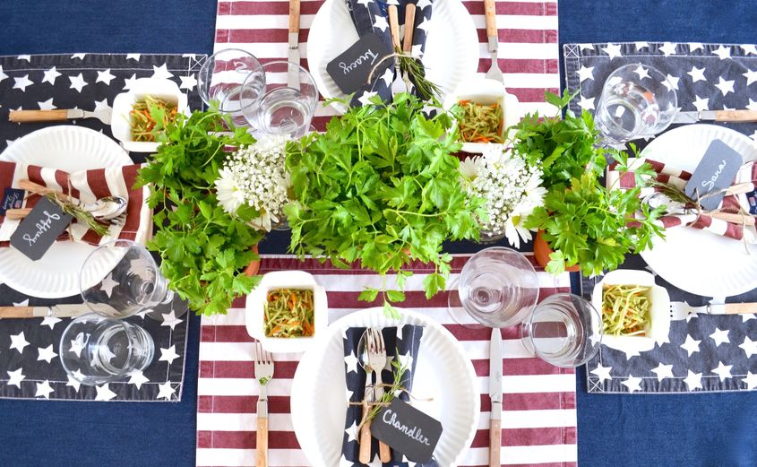 Since The 4th Of July Usually Includes A Backyard, Potluck BBQ, I Think It  Calls For A Casual Tablesetting U2013 Meaning, Just About Anything Red, ...