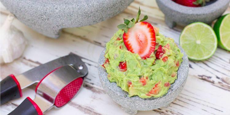 Avocado & Strawberry Guacamole
