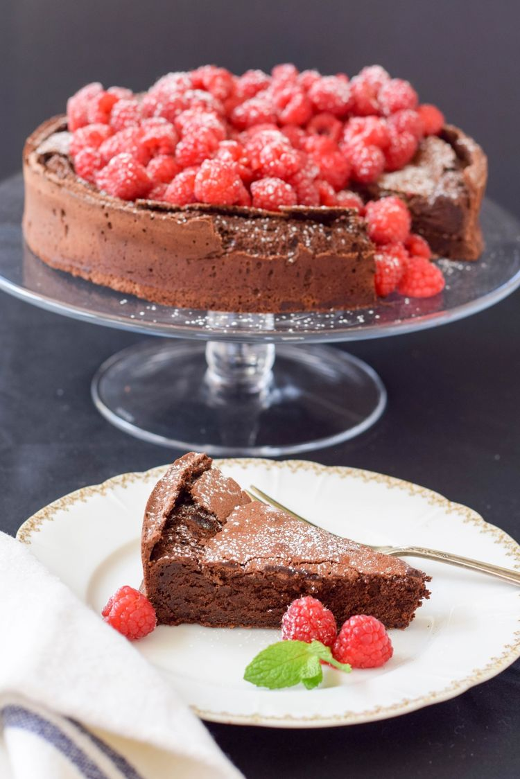 Flourless Chocolate Cake Recipe Emily Paster The Inspired Home