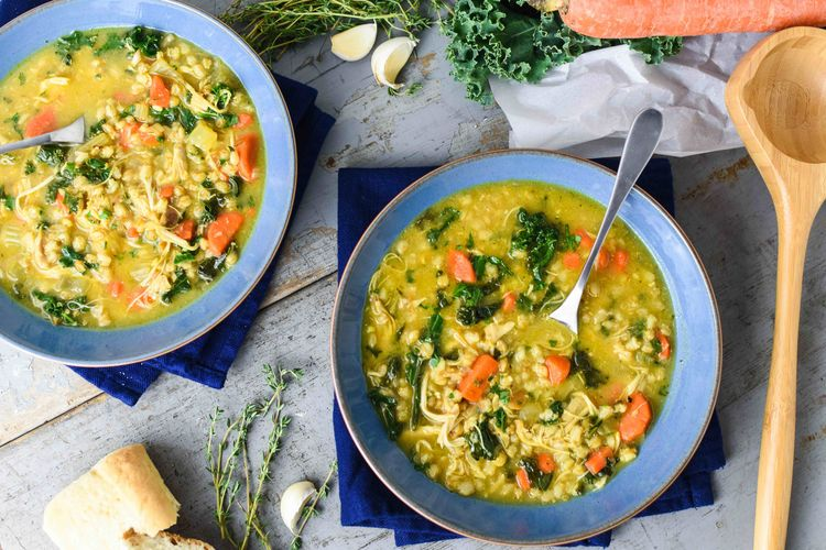 Boost Your Immunity With This Bone Broth, Turmeric & Kale Chicken Soup