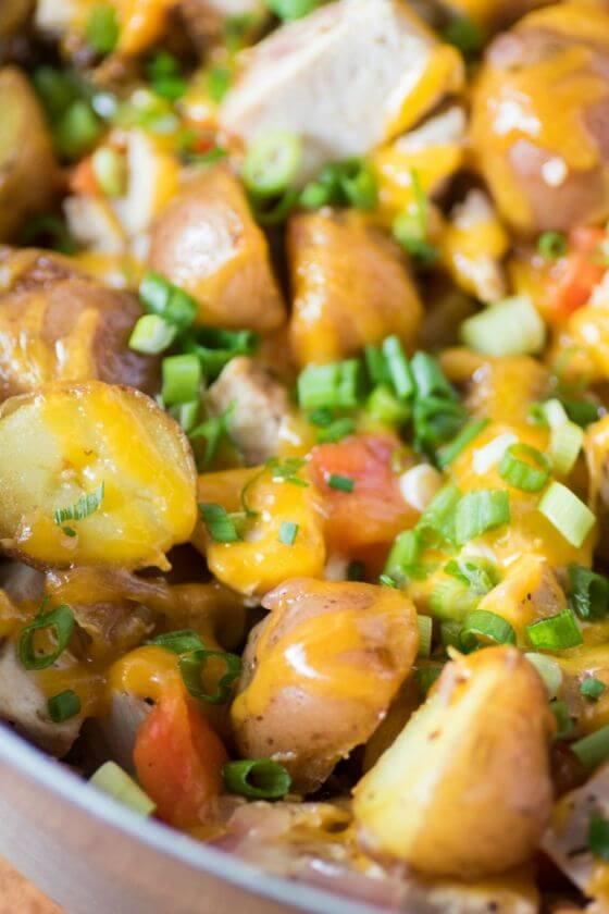 Leftover Turkey Potato Hash