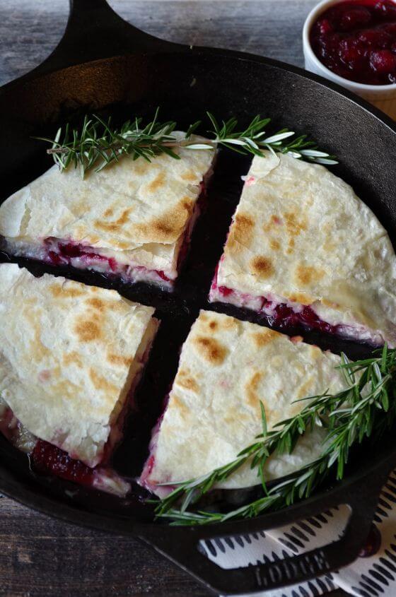 Leftover Turkeyand Cranberry Sauce Quesadillas29