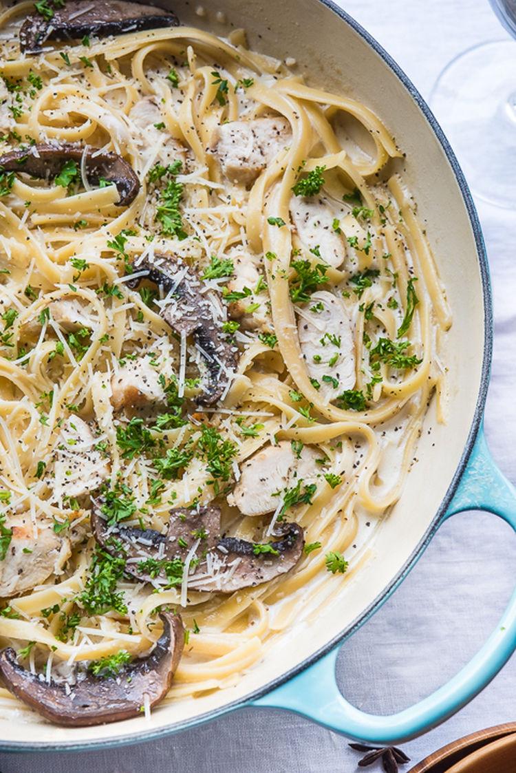 Mushroom Chicken Pasta 06