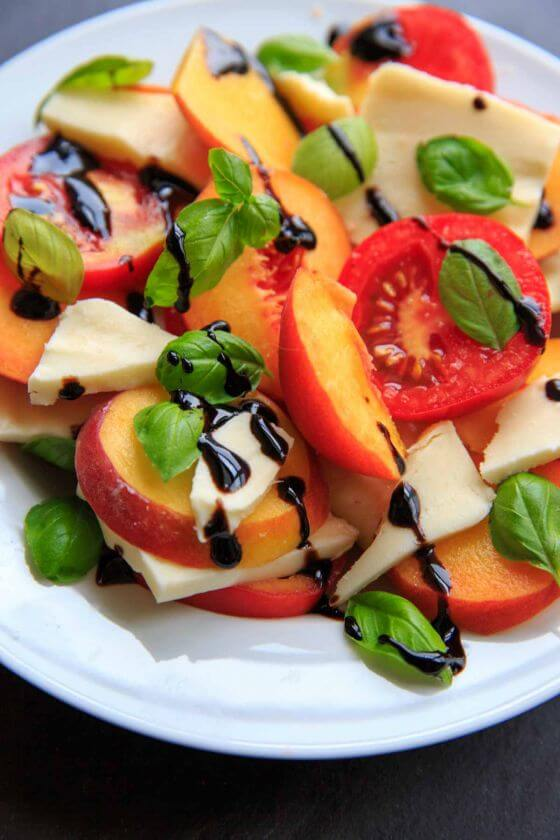 Peach Caprese Salad Trial And Eater 3