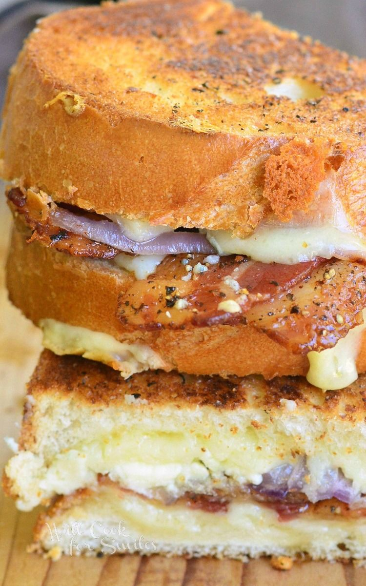 Peppered Bacon And Blue Grilled Cheese 3 From Willcookforsmiles Com