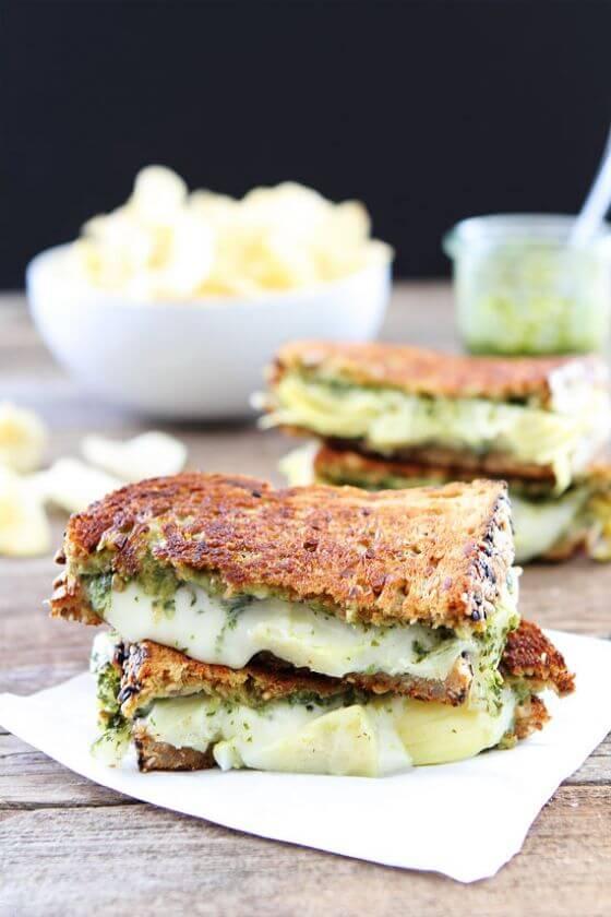 Pesto Artichoke Havarti Grilled Cheese 1
