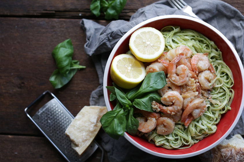 Peston Linguine Pasta With Shrimp Scampi 1