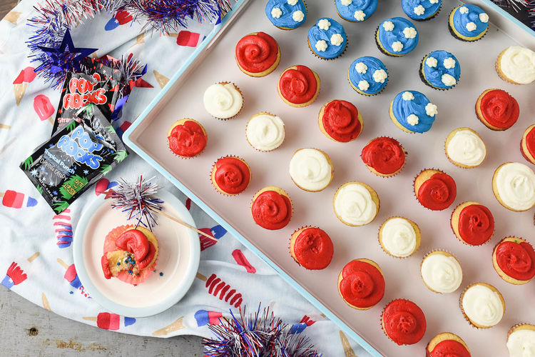 Get 4th of July Ready with a Mini Cupcake Flag Cake