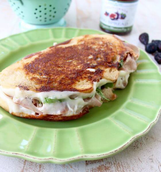 Prosciutto Provolone Fig Grilled Cheese 5