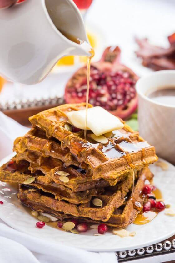 Pumpkin French Toast Waffles 03