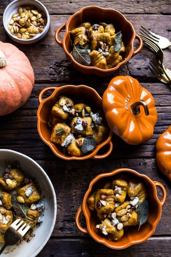 Pumpkin Gnocchi With Balsamic Sage And Blue Cheese Sauce 1