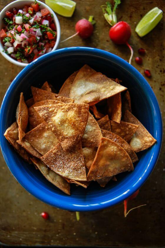 Radish-Pomegranate-Pico-de-Gallo-and-Homemade-Spiced-Tortilla-Chips-IMG 6533
