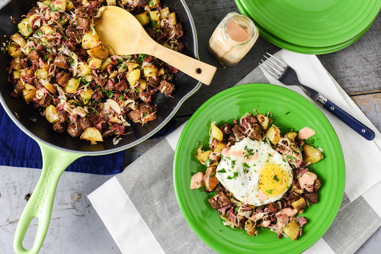Reuben-Style Corned Beef Hash Recipe