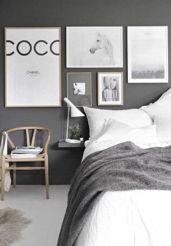 Scandinavian Grey Bedroom Inspired Home