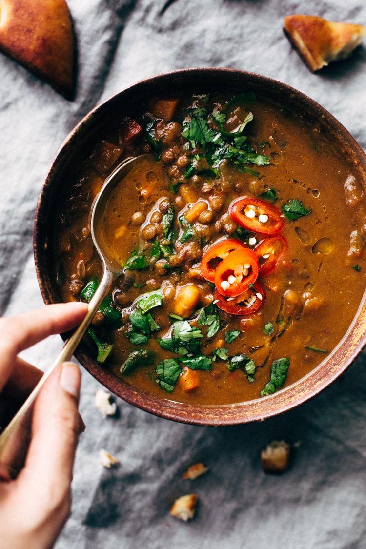 Soul Warming Moroccan Sweet Potato Lentil Soup 9