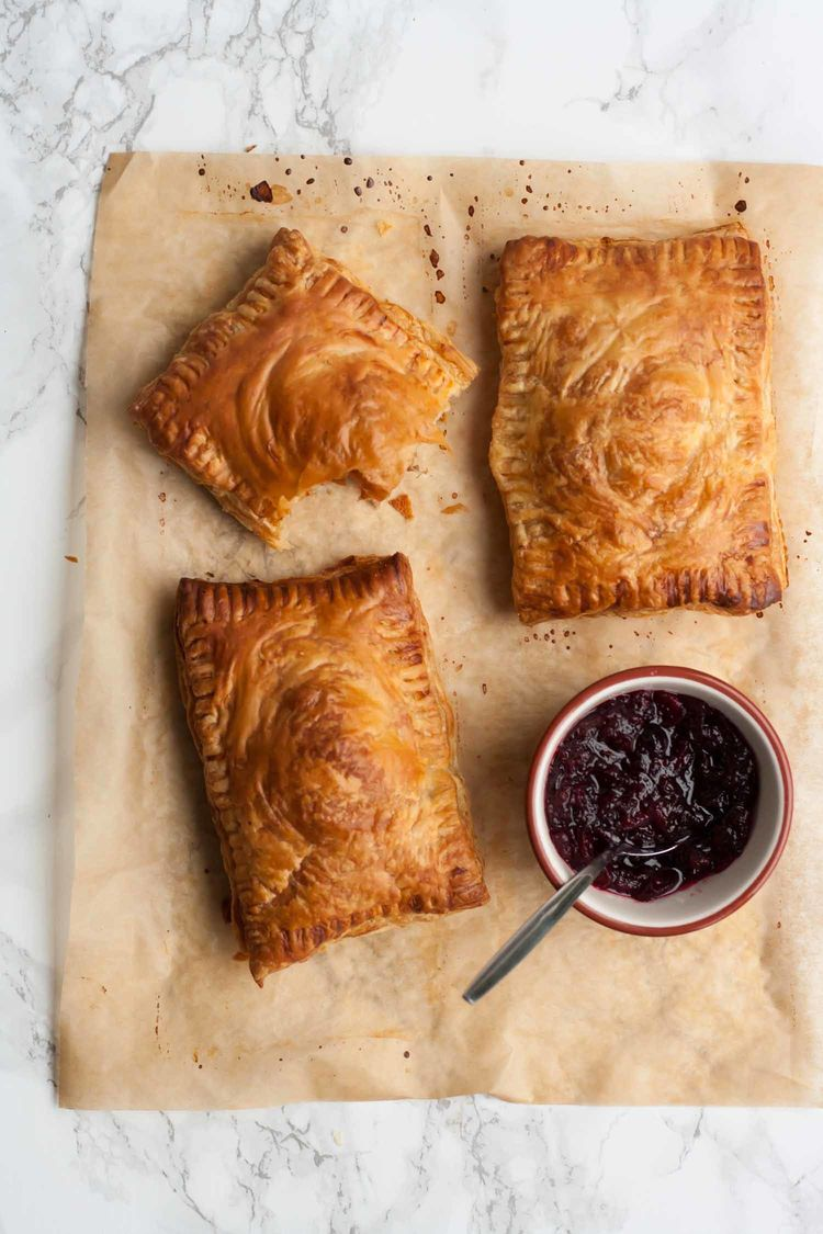 Spiced Leftover Turkey Cranberry Pastries 10