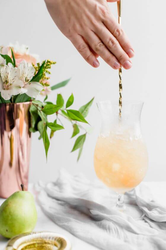 Spiced Pear Cocktails 4
