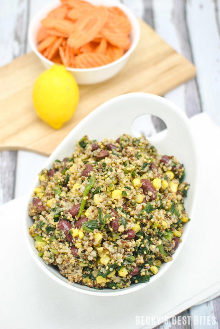 Spinach Corn Bean Fiesta Quinoa Bowl 3 750X1121