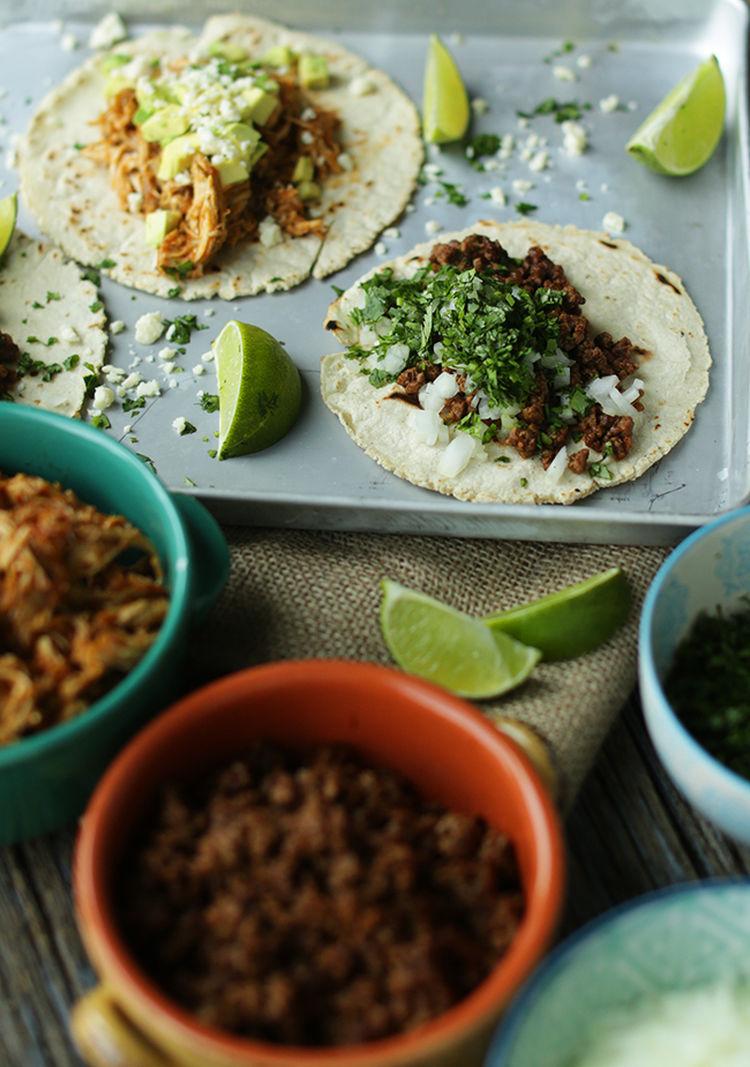 Authentic Chicken & Beef Tacos