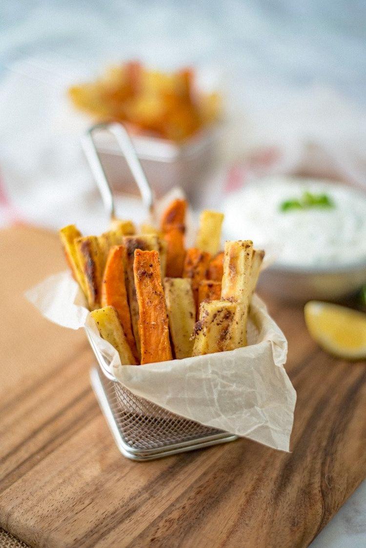 Sumac Baked Sweet Potatoes With Mint Yogurt Dip 6