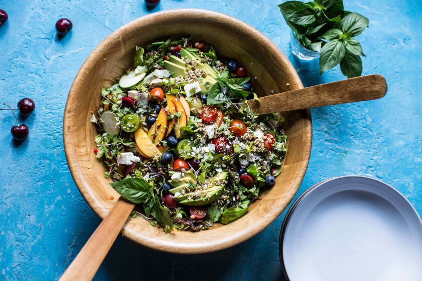 Summer Chopped Salad With Cherries 4Resize