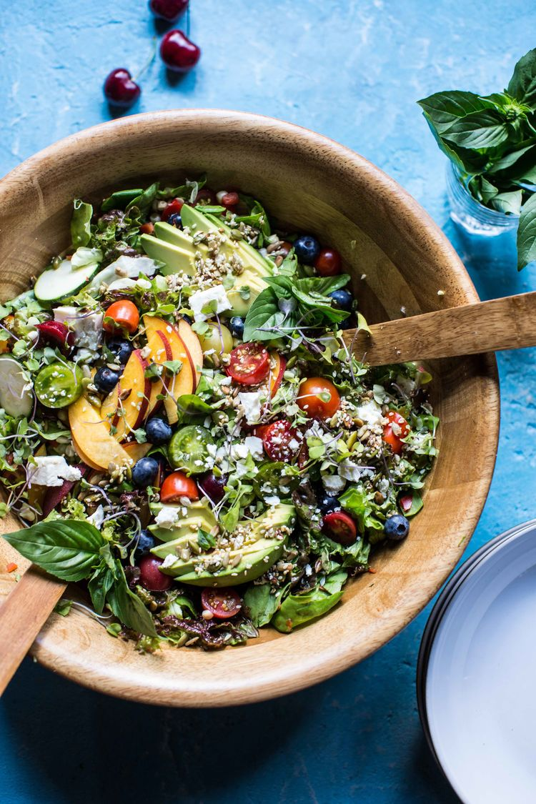 Summer Chopped Salad With Cherries 5Resize