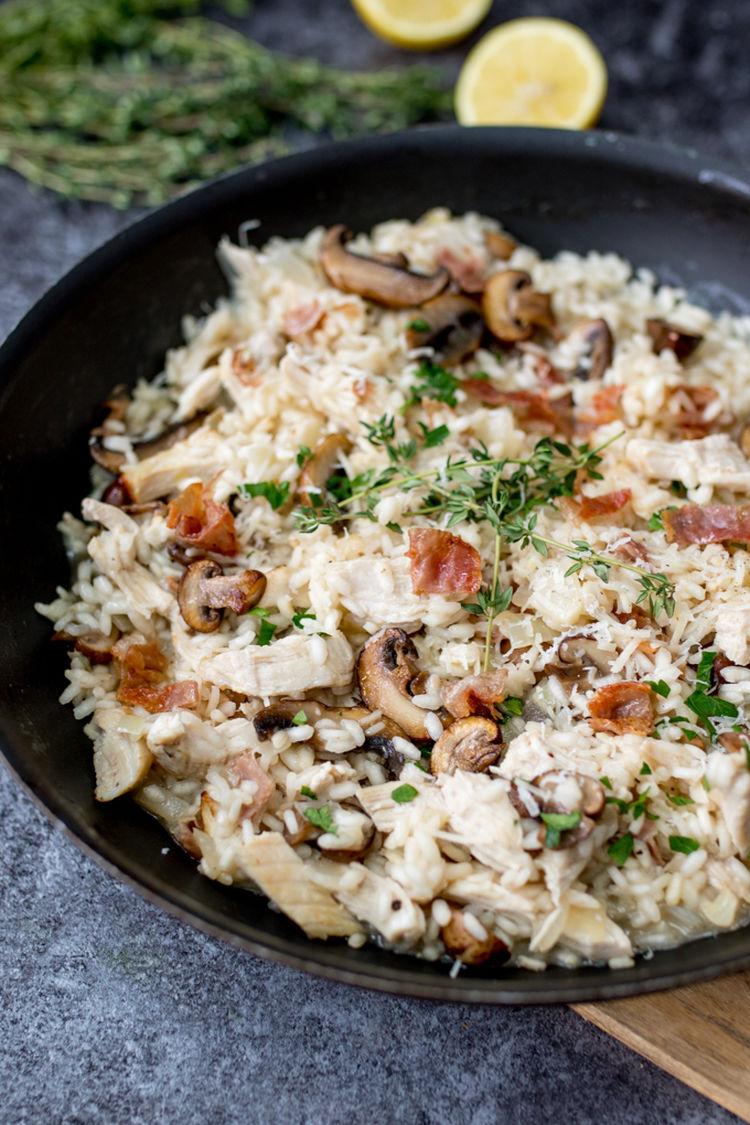 Turkey Pancetta Mushroom Risotto Tall