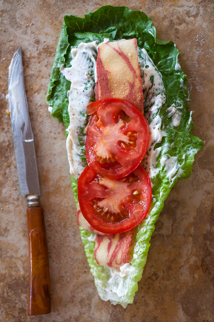 Vegetarian Blt Lettuce Wrap Jackie Alpers