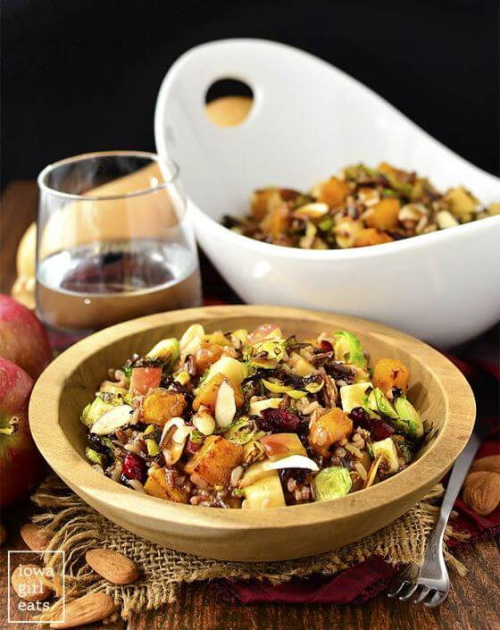Wild Rice Harvest Bowls With Fig Balsamic Vinaigrette Iowagirleats 13