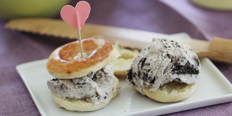 Low-Fat Air-Fried Doughnuts + Doughnut Ice Cream Sandwiches