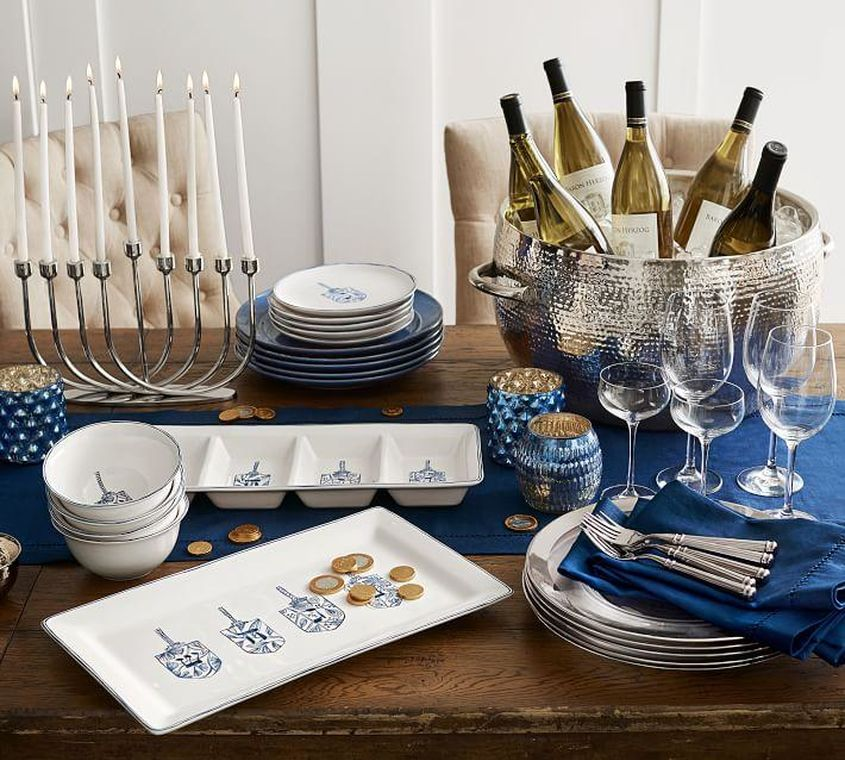 Chic And Modern Hanukkah Inspiration Inspired Home 6