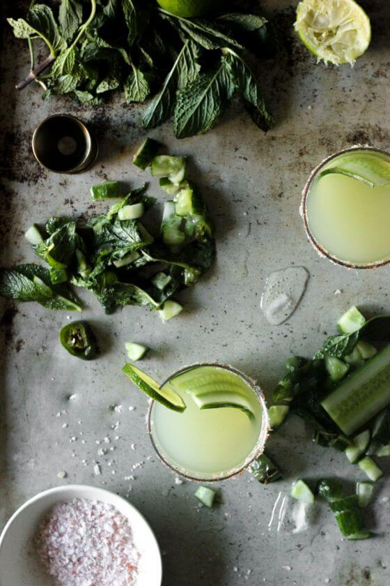Mint Cucumber & Smoky Jalapeño Margaritas