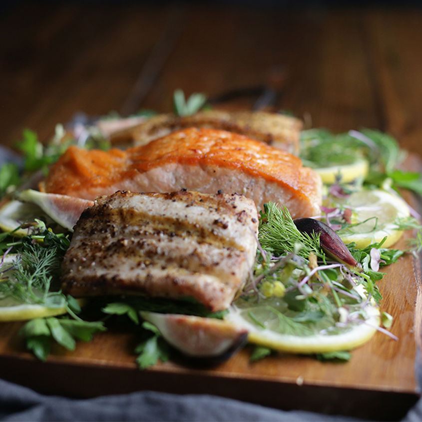 How to cook fish 3 ways billy parisi the inspired home for Cooking fish on a salt block