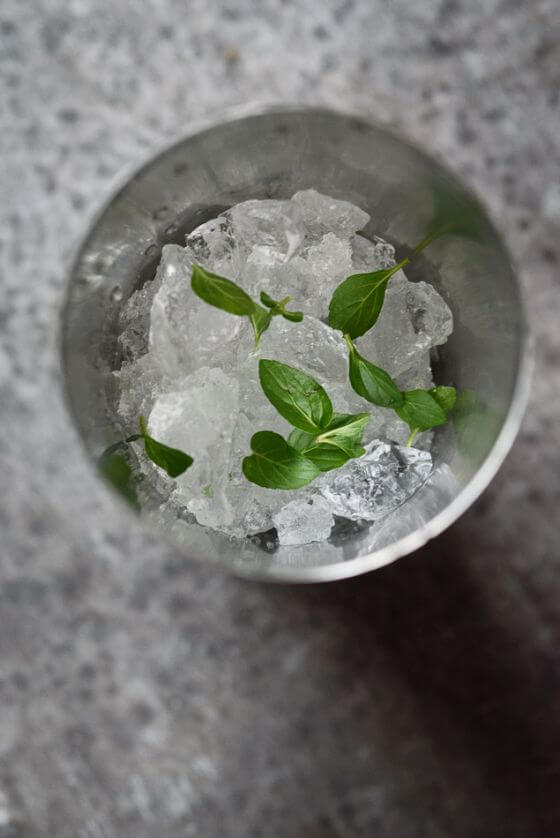 Crushed Ice With Mint