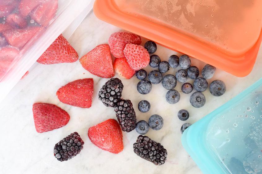 Frozen Berries Stasher Bags Overhead