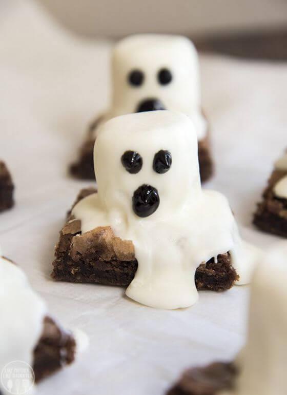 Ghost Brownies 1