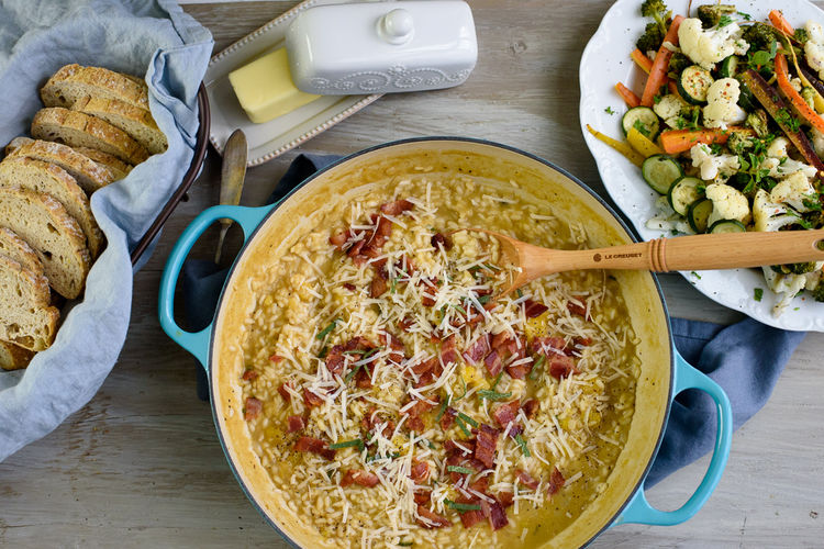 Butternut Squash Sage Risotto with Bacon