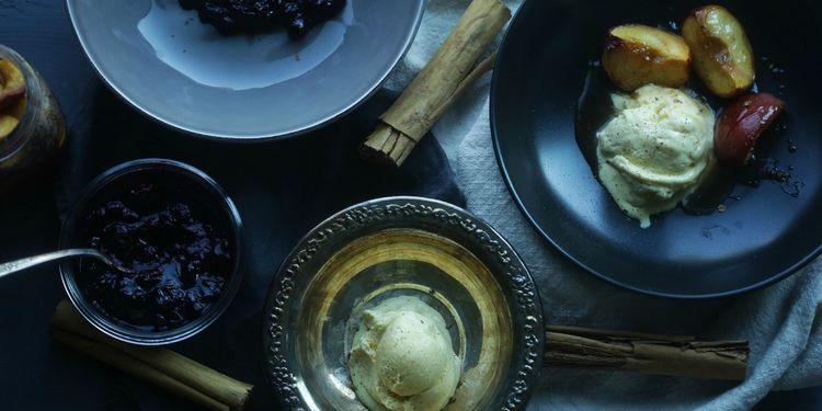Homemade Horchata Ice Cream