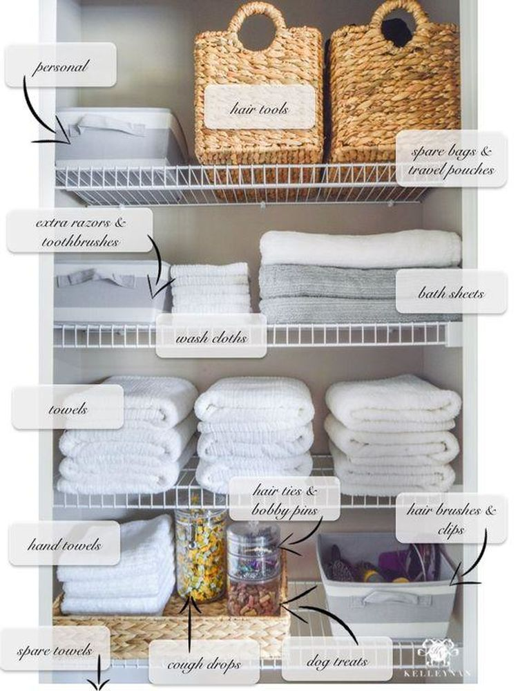 9 Ways To Organize Your Linen Closet That Ll Make You Feel