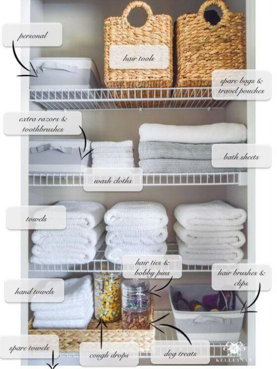 How To Organize Your Linen Closet Inspired Home 4