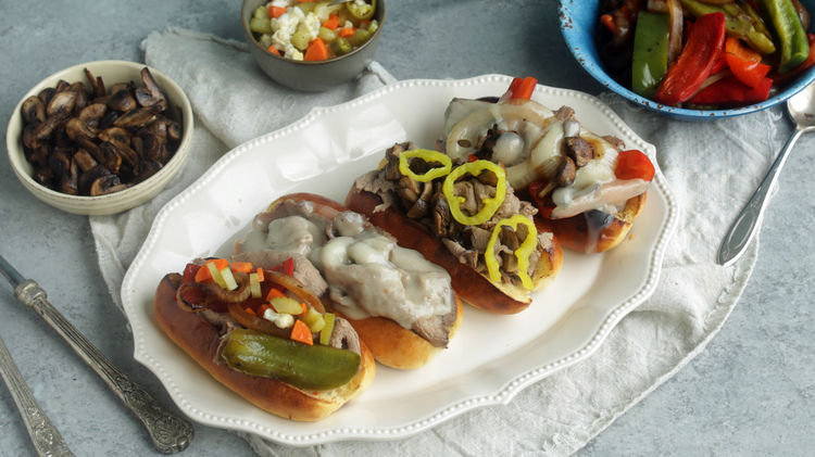 Slow Cooker Italian Beef with Homemade Giardiniera Recipe