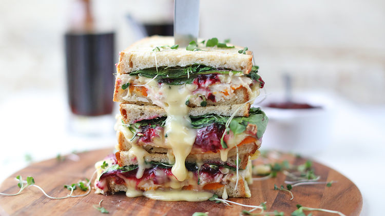 The Best Use for Thanksgiving Leftovers: Turkey, Brie, and Cranberry Panini