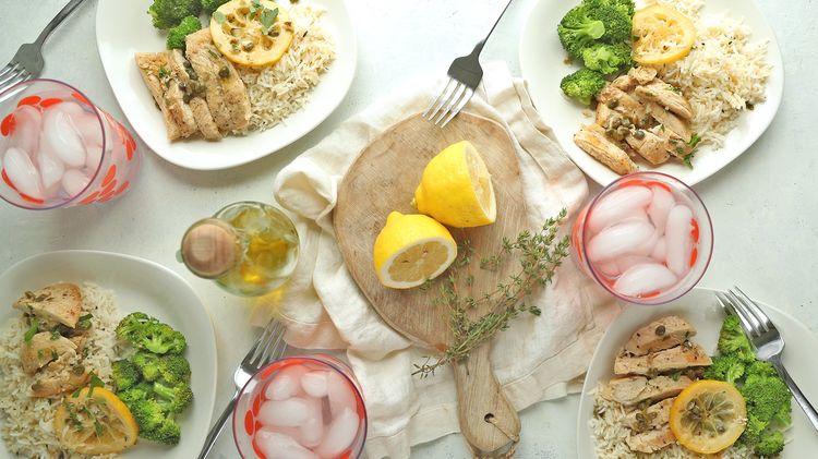 Make Ahead Meal: Lemon Chicken with Broccoli & Rice