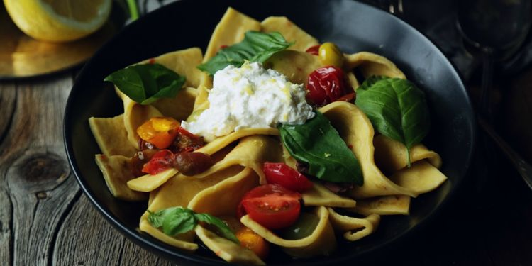 Tomato & Lemon Ricotta with Homemade Pappardelle
