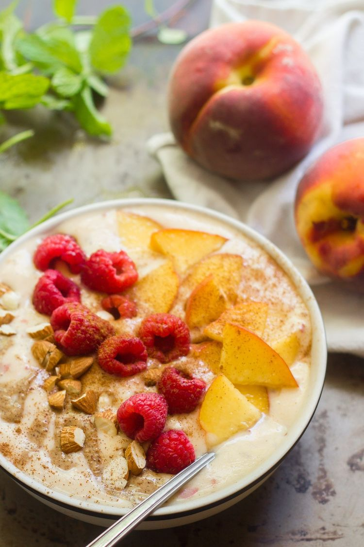 Peaches And Cream Smoothie Bowls 3